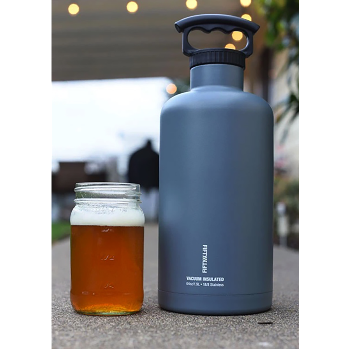 FIFTY/FIFTY Tank Growler 64 oz, Olive