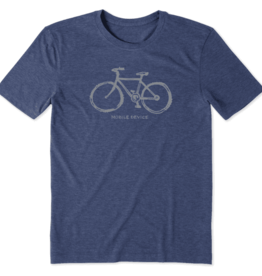 Life is Good M's Cool Tee Mobile Device, Darkest Blue