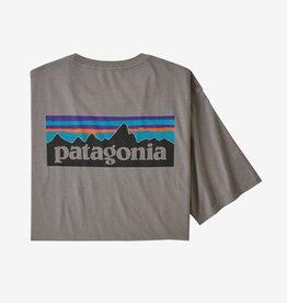 Patagonia Men's P-6 Logo Organic Cotton T-Shirt, Feather Grey