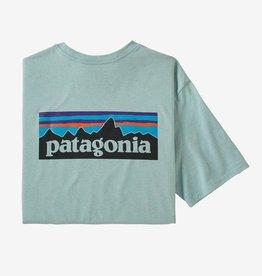 Patagonia Men's P-6 Logo Pocket Responsibili-Tee®, Big Sky Blue