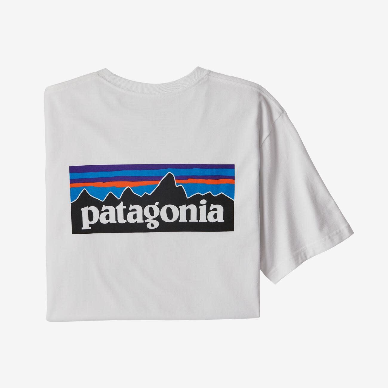 Patagonia Men's P-6 Logo Pocket Responsibili-Tee®, White