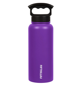 FIFTY/FIFTY 34OZ. VACCUM INSULATED BOTTLE, PURPLE