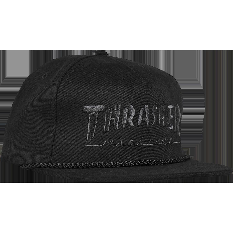 Thrasher Thrasher Magazine Rope Black / Black Hat - Adjustable