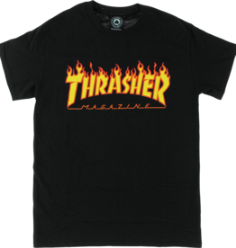 Eastern Skate Supply Thrasher Flame S/S, Black