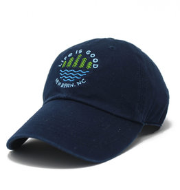 Life is Good New Bern / LIG Lake Pines Chill Cap, Darkest Blue
