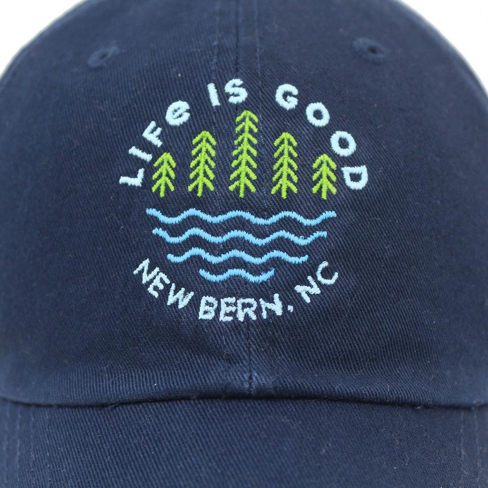Life is Good New Bern / LIG Lake Pines Chill Cap, Darkest Blue