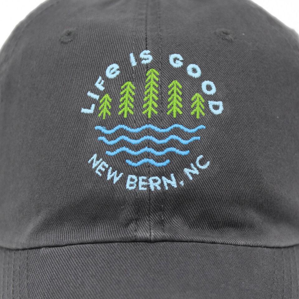 Life is Good New Bern / LIG Lake Pines Chill Cap, Slate Gray