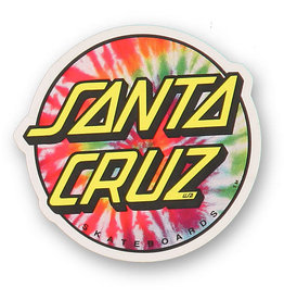 "Santa Cruz Tie Dye Dot Decal, 3"""