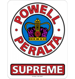 """Powell Peralta Supreme Og Decal, 3.5"""""""