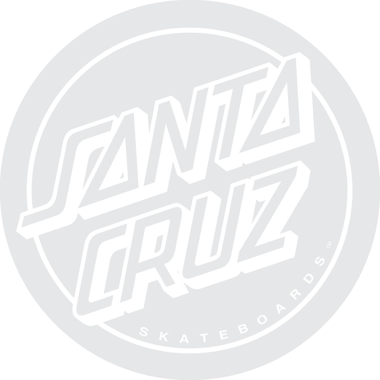 "Santa Cruz Opus Dot Decal White, 3"""