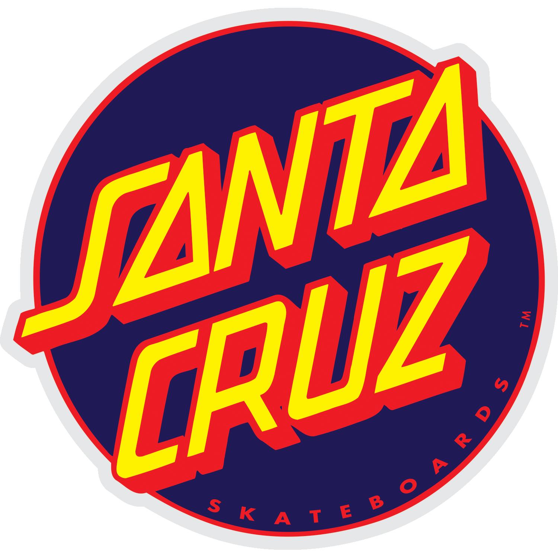 "Santa Cruz Other Dot Decal, 3"" Navy/Red"