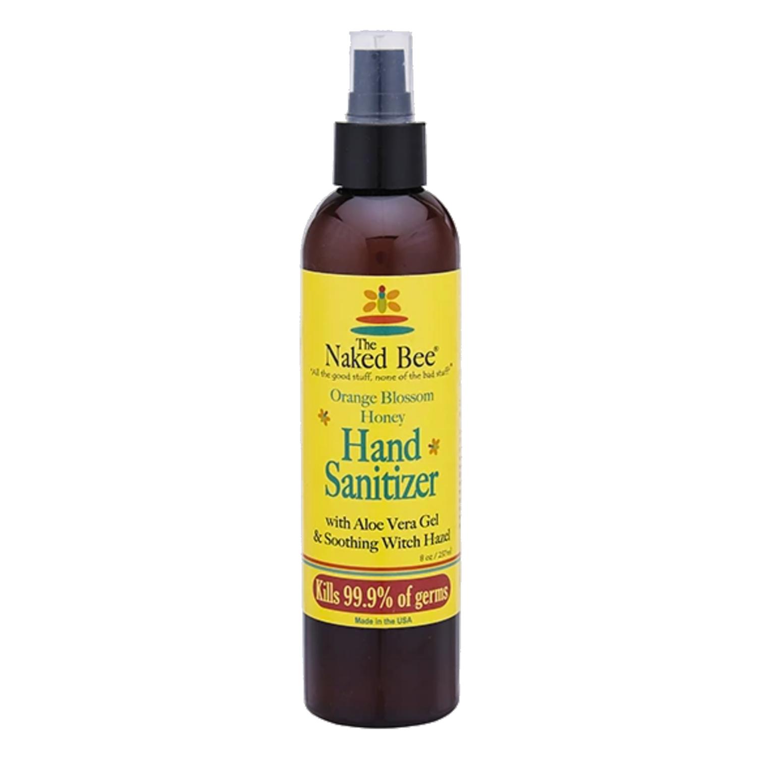 The Naked Bee Orange Blossom Honey Hand Sanitizer Pump Bottle, 8 oz.