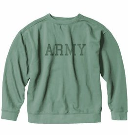 S.L. Revival Co. Army Collegiate Sweatshirt, Green
