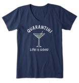 Life is Good W Crusher Vee Quarantini, Darkest Blue