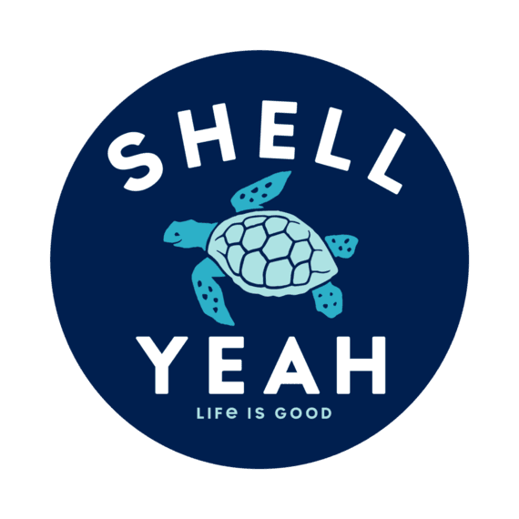 Life is Good Shell Yeah Sticker