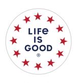 "Life is Good Star Circle 4"" Circle Sticker"