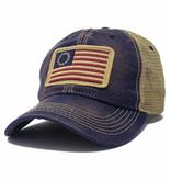 S.L. Revival Co. Betsy Ross Flag Trucker Hat, Navy Blue
