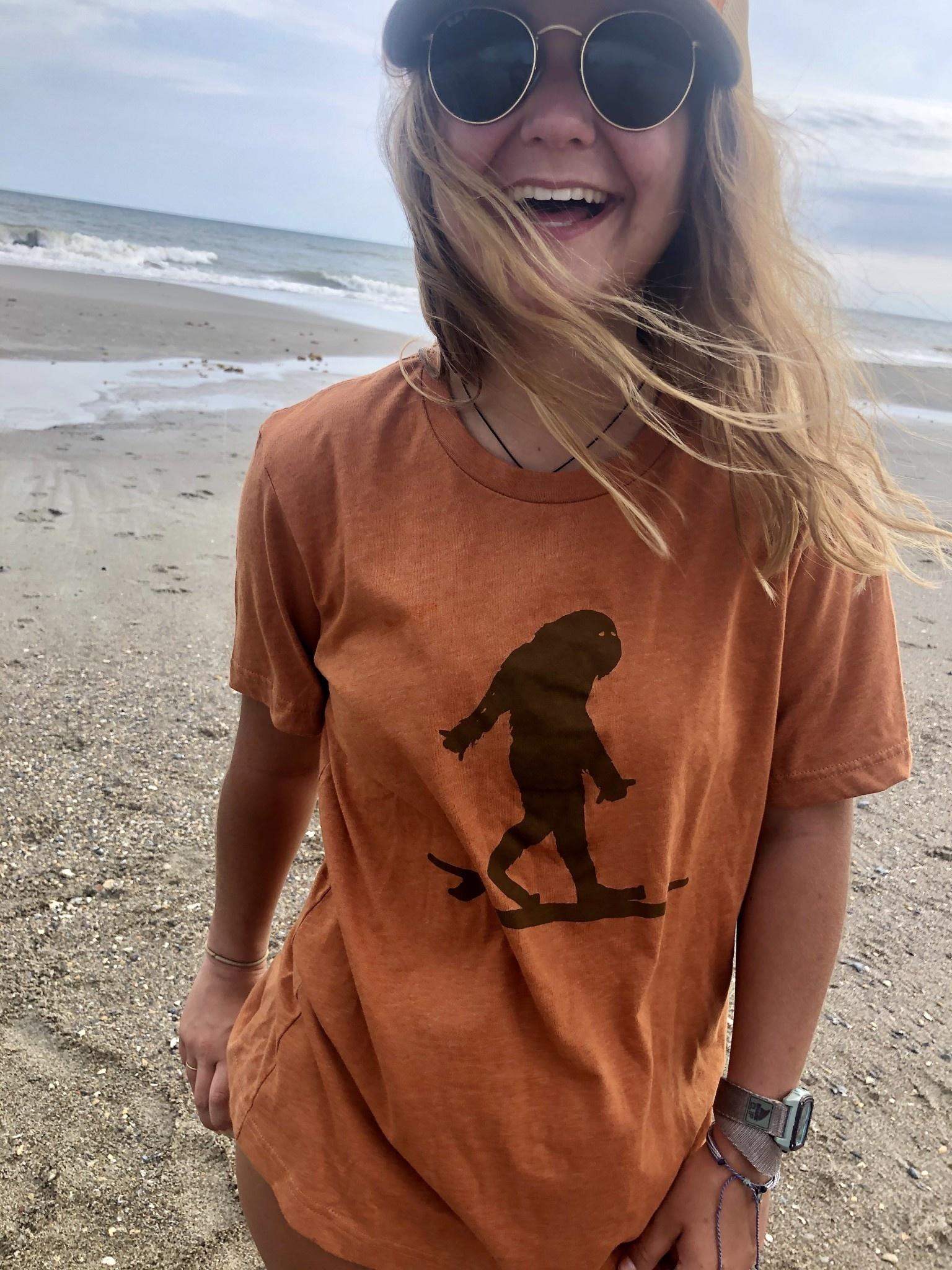 Surfing Sasquatch Unisex T-Shirt-2