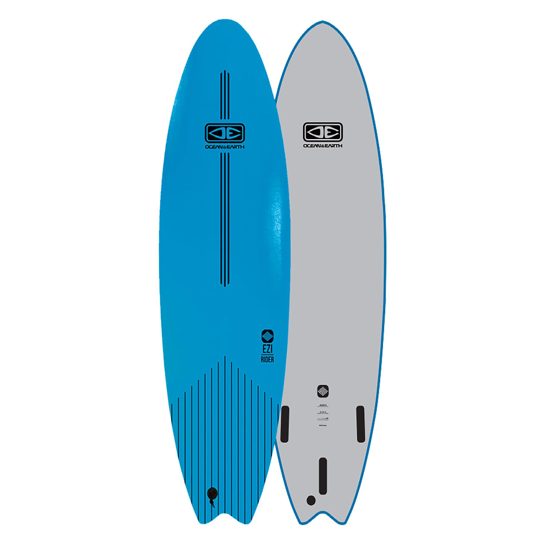 """O&E EZI-RIDER SOFTBOARD 7'0"""" BLUE"""