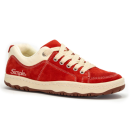 Simple Shoes OS Sneaker, Suede, Cherry