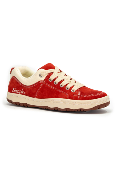 OS Sneaker, Suede, Cherry