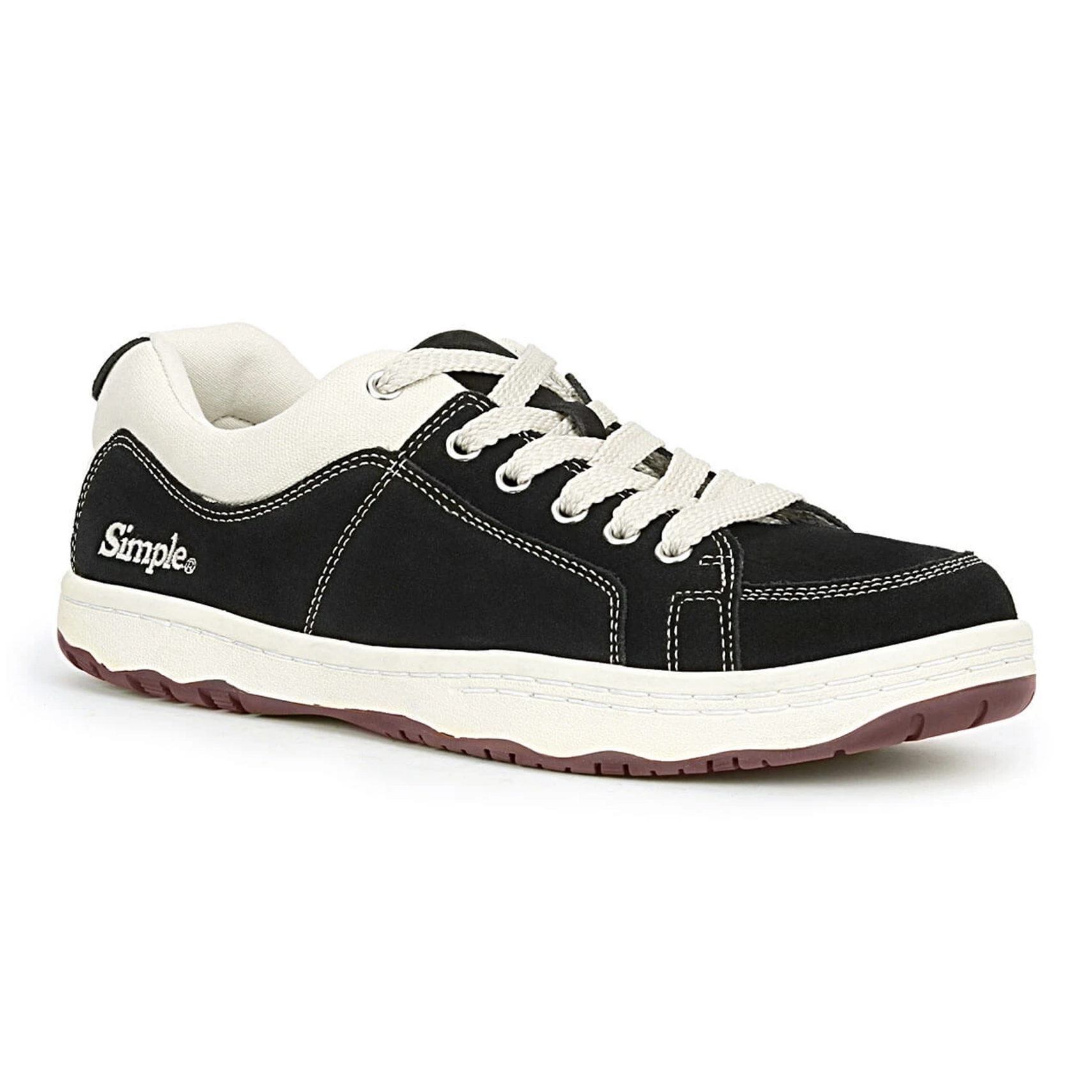 Simple Shoes OS Sneaker, Suede, Black