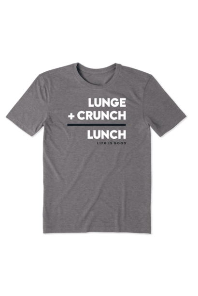 Men's Cool Tee Lunge Crunch Lunch, Slate Gray