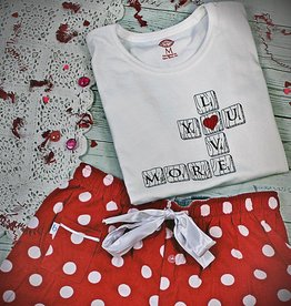 S.L. Revival Co. Valentine Scrabble Game Sleep Set
