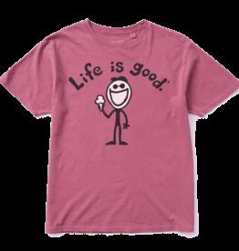 Life is Good Unisex Tee Original Jake Ice Cream, Nantucket Red