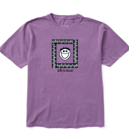 Life is Good Unisex Original Jake Original Tee, Jam Purple