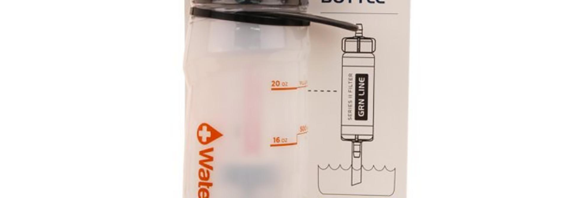 Waterbasics Filtered Water Bottle Green Line