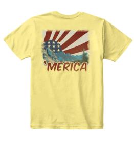 S.L. Revival Co. 'Merica Short Sleeve T-shirt, Squash Yellow,