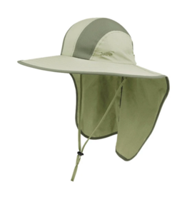 JUNIPER Taslon UV Large Bill Sun Hat,  Khaki, One Size
