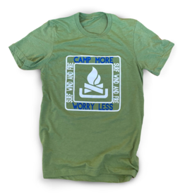 Camp More S/S Tee, Heather Green