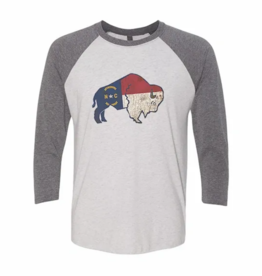NC Flag Buffalo Baseball Tee, Assorted