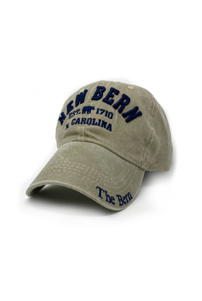 New Bern The Bern 1710 Hat Embroidered, Khaki