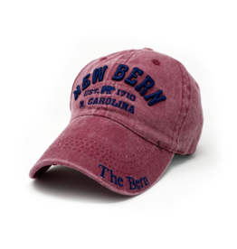 New Bern The Bern 1710 Hat Embroidered, Red