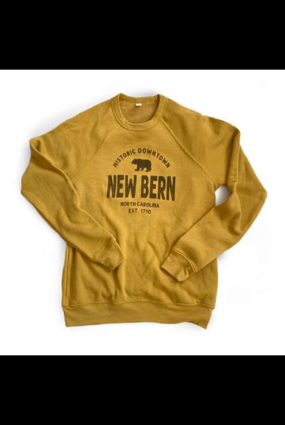Historic Downtown New Bern Sweatshirt, Mustard