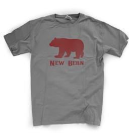 New Bern Simple Bear Unisex Tee, Grey