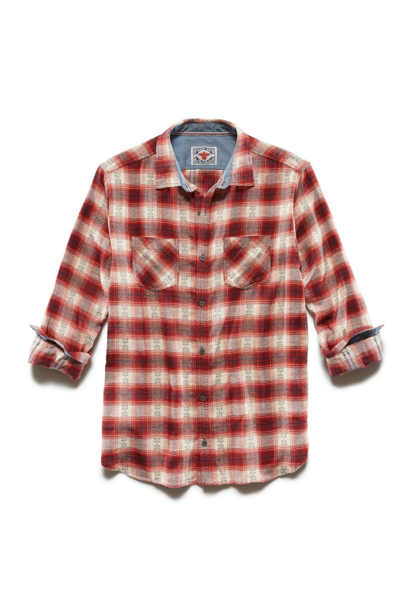 Albee Flannel Shirt, Red/White/Navy