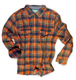 Flag and Anthem Attica Flannel Shirt, Orange/Navy