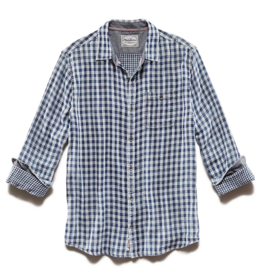 Flag and Anthem Norvell Double Layer Shirt, Blue/White