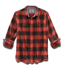 Flag and Anthem Shaw Vintage Washed Shirt, Red/Black