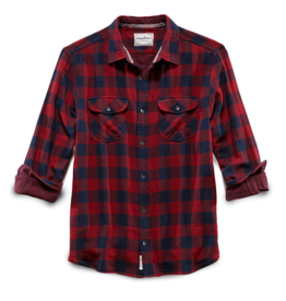 Flag and Anthem Belhaven Double Layer Shirt, Maroon/Navy