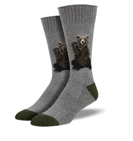 Socksmith M's Friendly Bear, Gray
