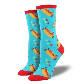 Socksmith W's Wiener Dog, Blue