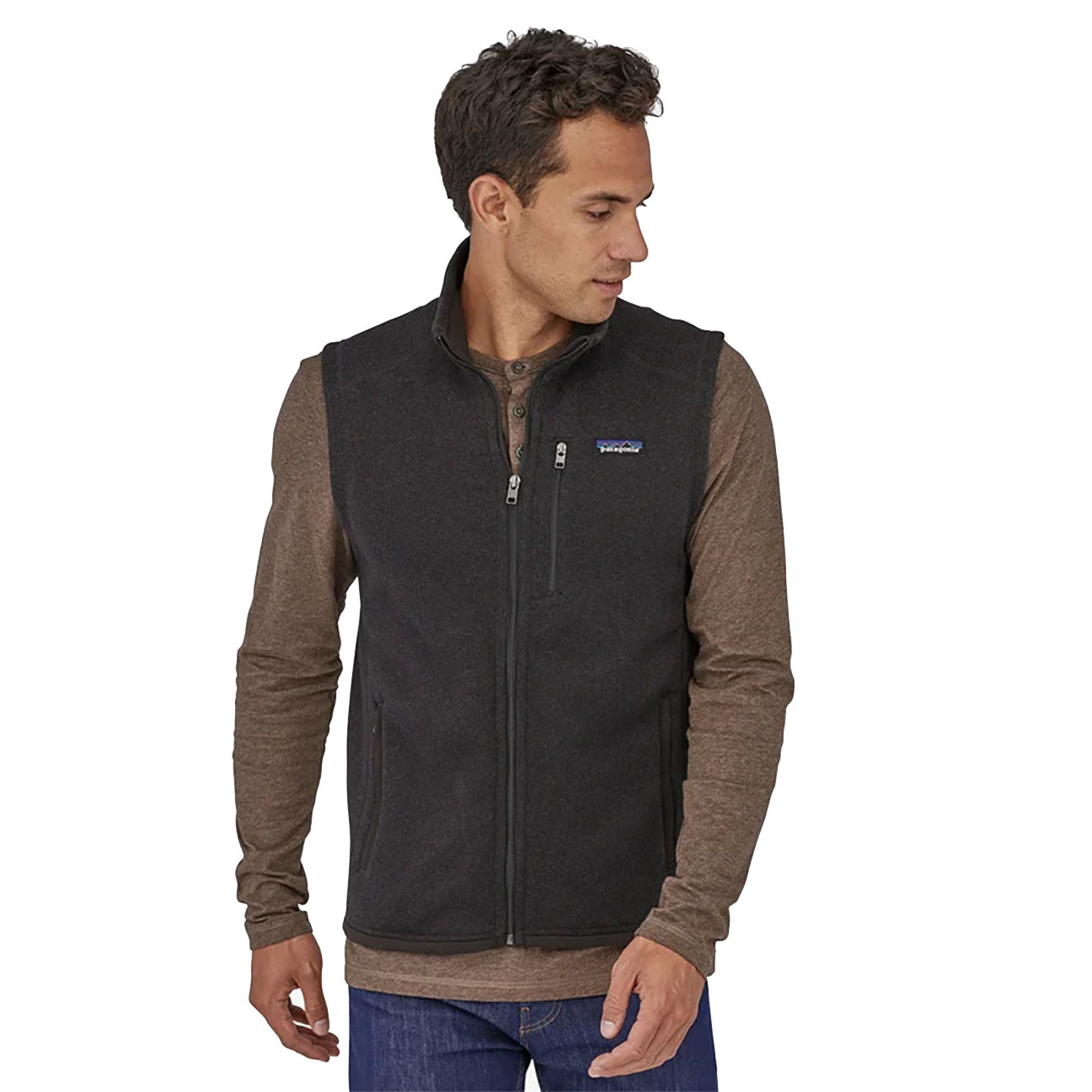 Men's Better Sweater Fleece Vest, Black-4