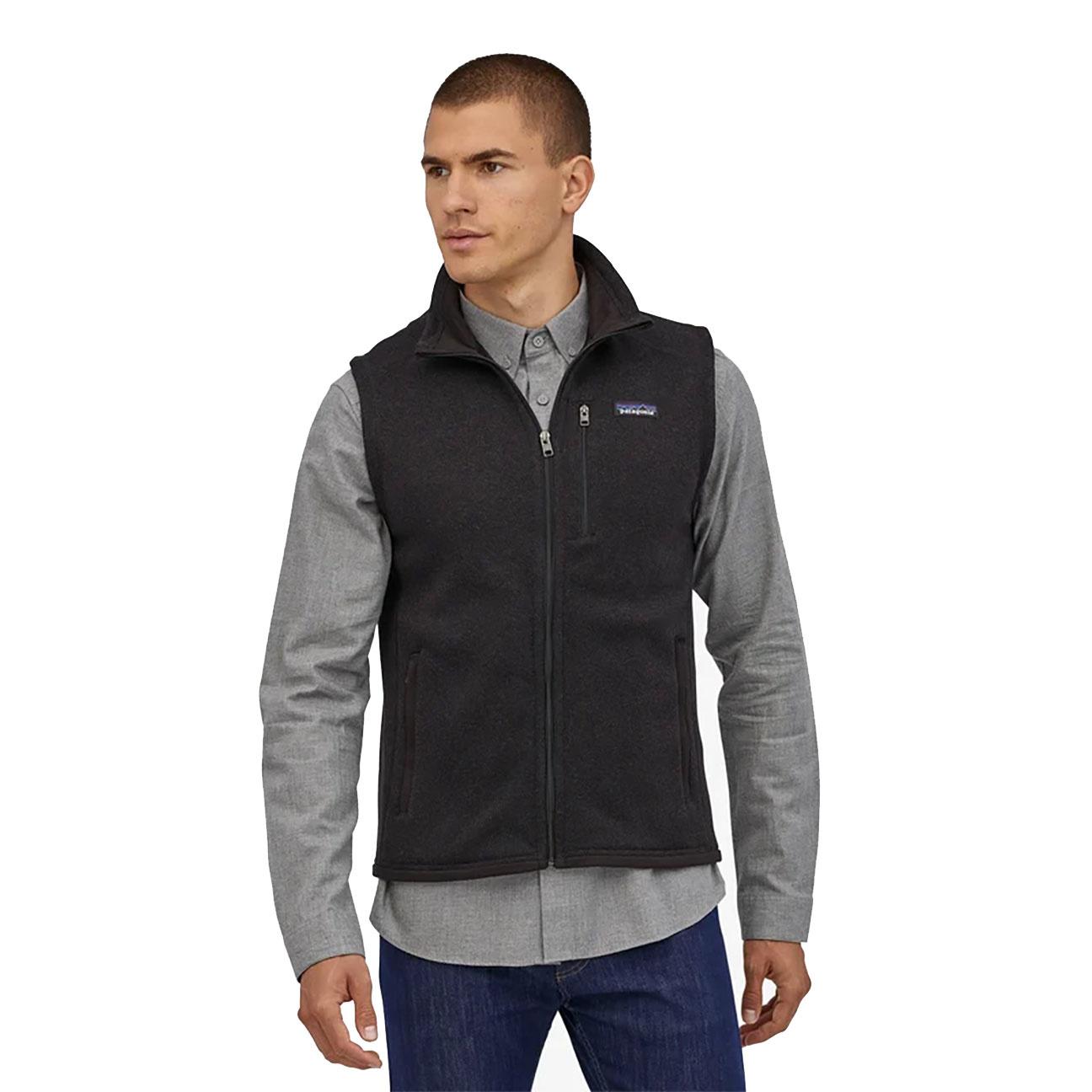 Men's Better Sweater Fleece Vest, Black-2