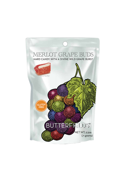 Muscadine Merlot Grape Buds Hard Candy 2.5 oz