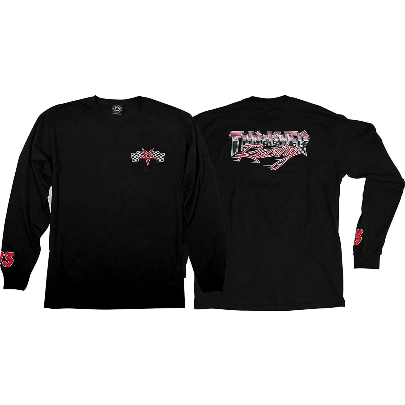 Racing Long-sleeve, Black/Red-1